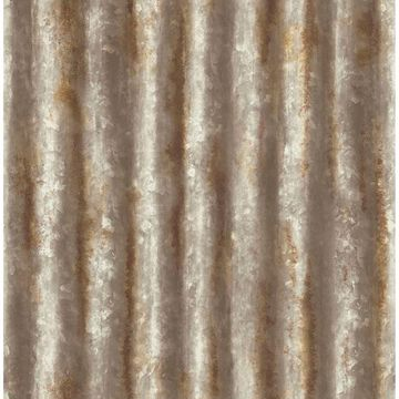 Picture of Alloy Brass Corrugated Metal Wallpaper