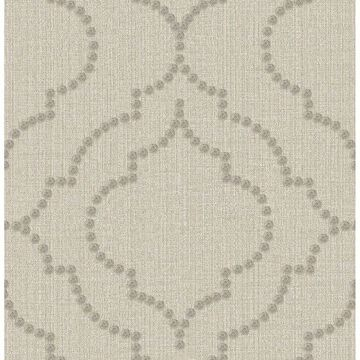 Picture of Garett Wheat Quatrefoil Wallpaper