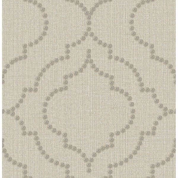 Picture of Garett Wheat Quatrefoil Wallpaper