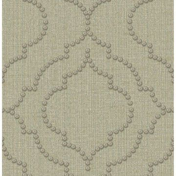 Picture of Garett Light Green Quatrefoil Wallpaper