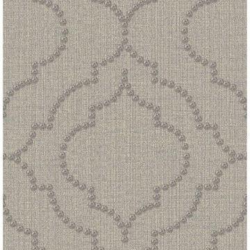 Picture of Garett Light Grey Quatrefoil Wallpaper