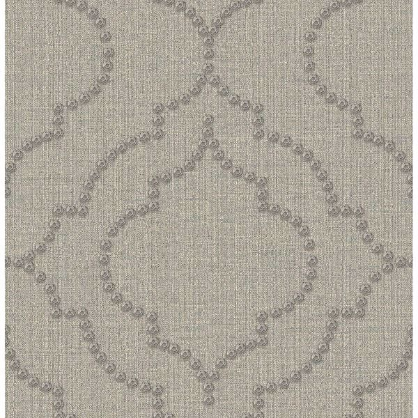 Picture of Garett Light Grey Quatrefoil Wallpaper