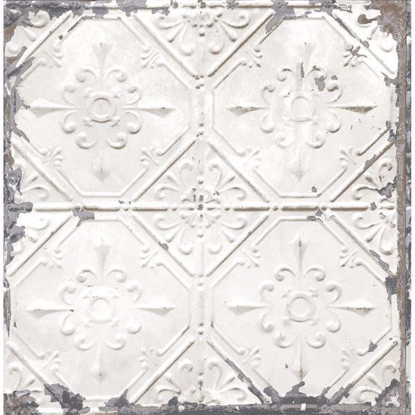 Picture of Artisan White Tin Ceiling Wallpaper