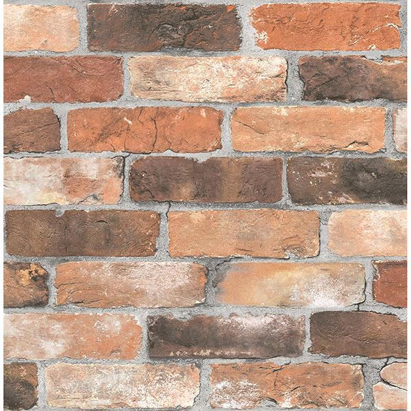 Picture of Adams Red Reclaimed Bricks Wallpaper