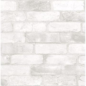 Picture of Adams White Reclaimed Bricks Wallpaper
