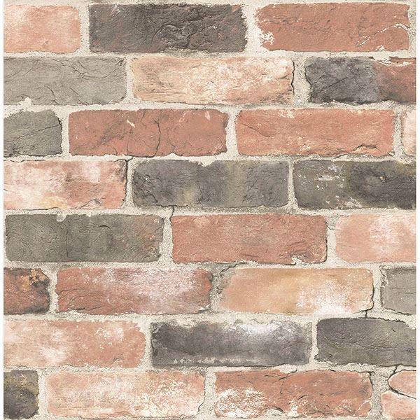Picture of Adams Multicolor Reclaimed Bricks Wallpaper