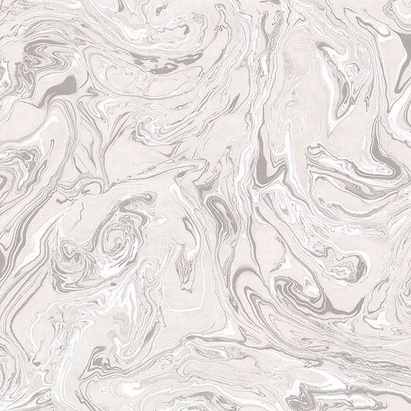 Picture of Olympia Light Grey Marble Wallpaper