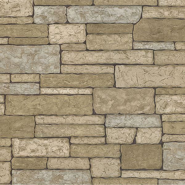 Picture of Madeline Grey Stone Texture Wallpaper