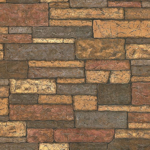 Picture of Madeline Brown Stone Texture Wallpaper