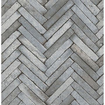 Picture of Arrow Grey Diagonal Slate Wallpaper