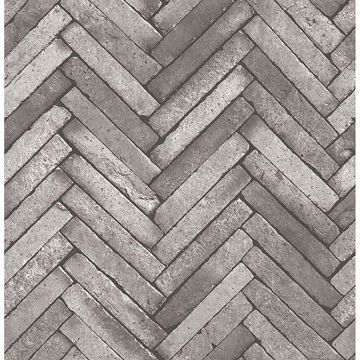 Picture of Arrow Dark Grey Diagonal Slate Wallpaper