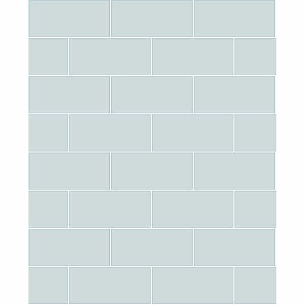 Picture of Galley Light Blue Subway Tile Wallpaper