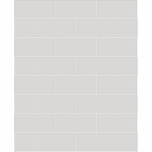 Picture of Galley Light Grey Subway Tile Wallpaper