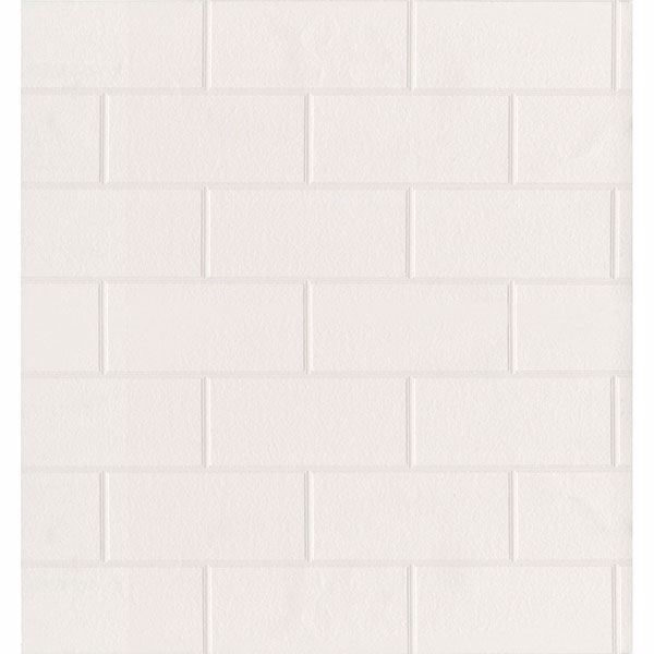 Picture of Galley White Subway Tile Wallpaper