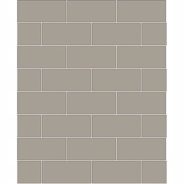 Picture of Galley Dark Grey Subway Tile Wallpaper