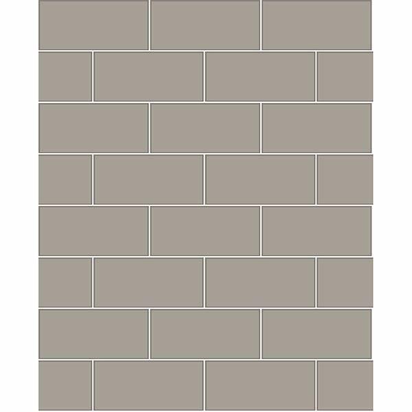 Picture of Galley Dark Grey Subway Tile Wallpaper