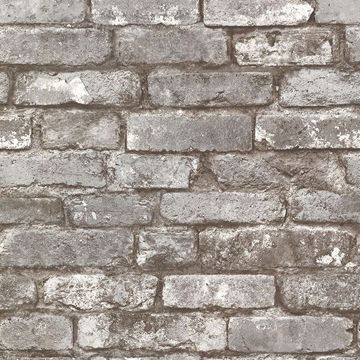 Picture of Davis Grey Brick Wallpaper