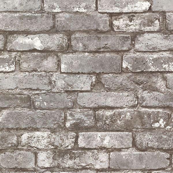 Picture of Davis Grey Brick Wallpaper