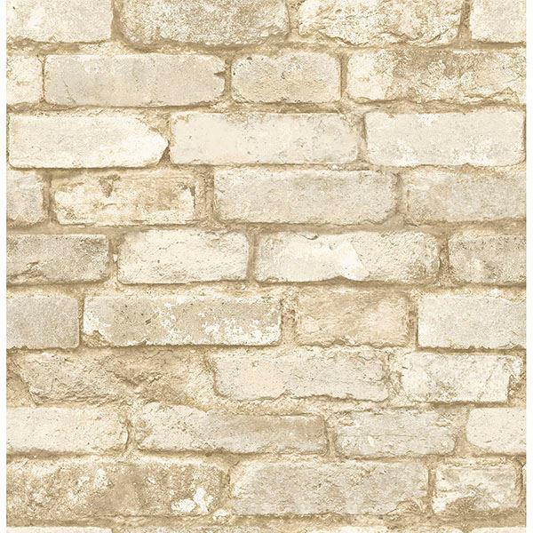 Picture of Davis Off-White Brick Wallpaper