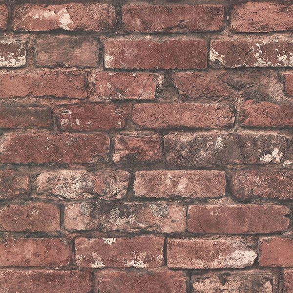 Picture of Davis Dark Red Exposed Brick Wallpaper