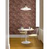 Davis Dark Red Exposed Brick Texture Wallpaper