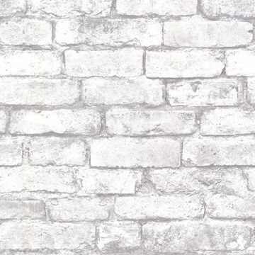 Picture of Davis White Brick Wallpaper