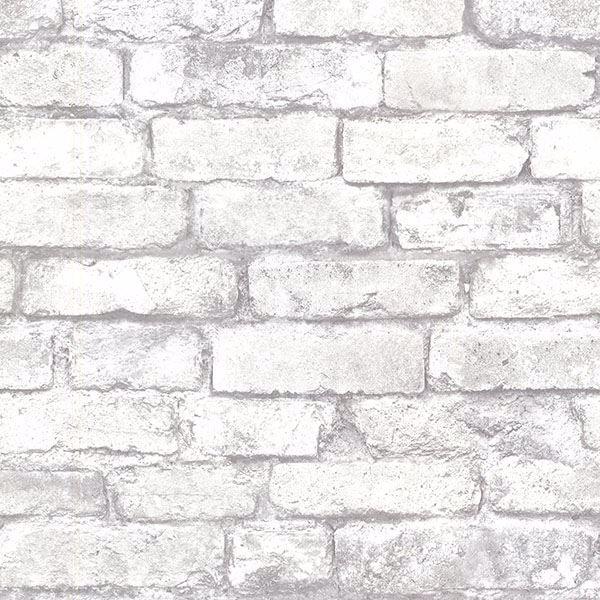 Picture of Davis White Brick Wallpaper