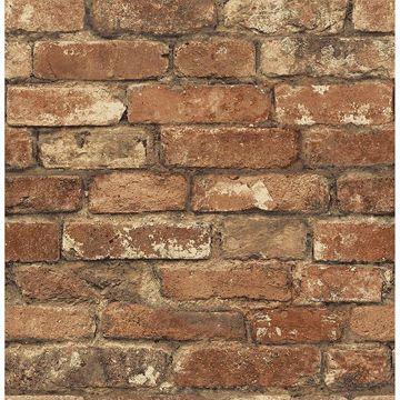 Picture of Davis Red Brick Wallpaper