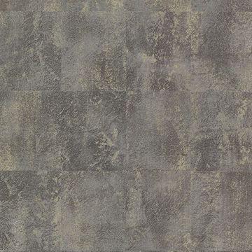 Picture of Azoic Dark Grey Brushstroke Squares Wallpaper