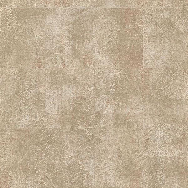 Picture of Azoic Copper Brushstroke Squares Wallpaper