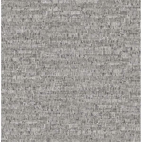 2767 23769 Burl Grey Small Faux Cork Wallpaper By Brewster