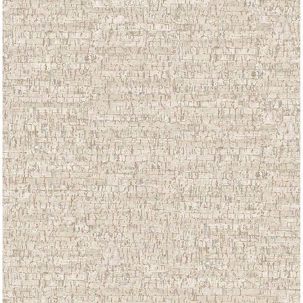 Picture of Burl White Small Faux Cork Wallpaper