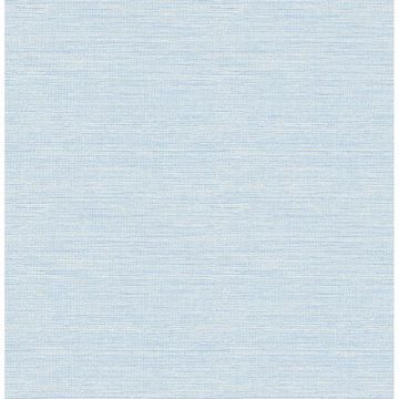 Picture of Bluestem Blue Faux Grasscloth Wallpaper