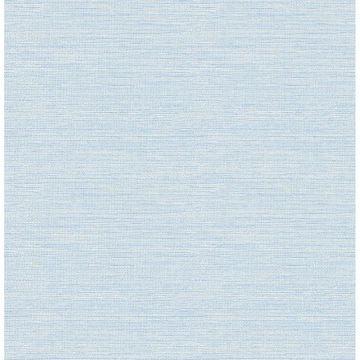 Picture of Bluestem Blue Faux Grasscloth Wallpaper