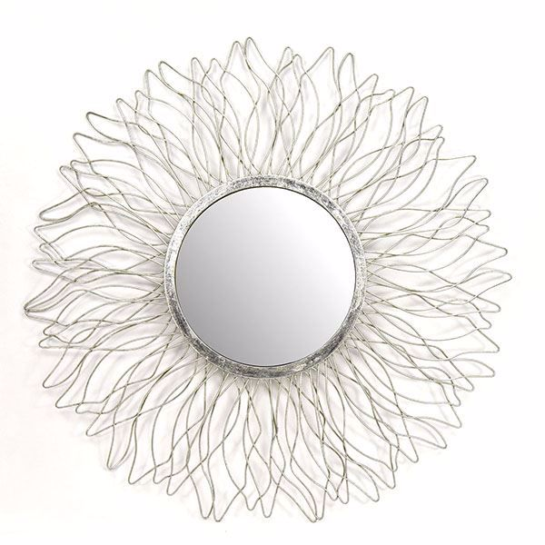 Picture of Acuna Silver Flower Mirror