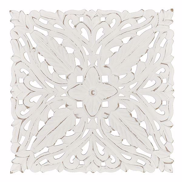 Picture of Maverick White Carved Medallion