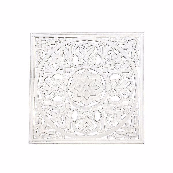 Picture of Zaria White Square Medallion