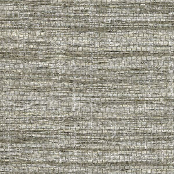 Picture of Cavite Grey Grasscloth Wallpaper