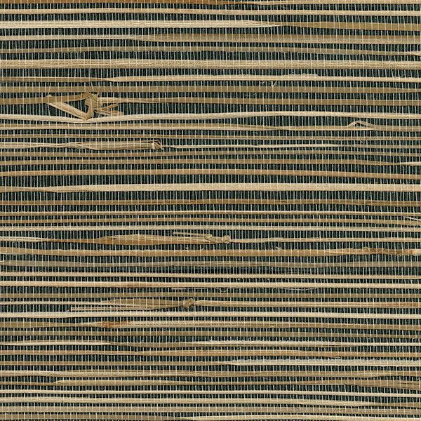 Picture of Anhui Black Grasscloth Wallpaper