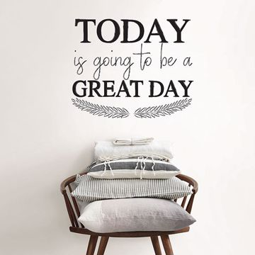 Picture of Great Day Wall Quote Decals