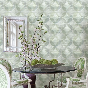 Picture of Alchemy Green Geometric Wallpaper
