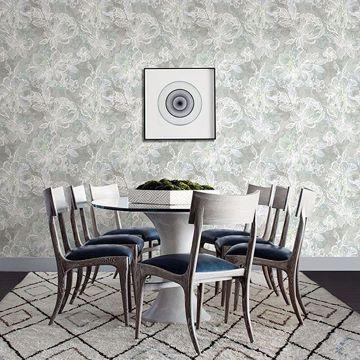 Picture of Allure Seafoam Floral Wallpaper