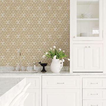 Picture of Blissful Honey Harlequin Wallpaper