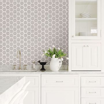 Picture of Aura Lavender Honeycomb Wallpaper