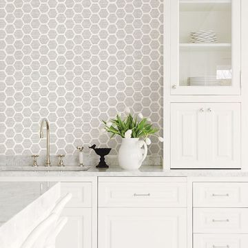 Picture of Aura Platinum Honeycomb Wallpaper