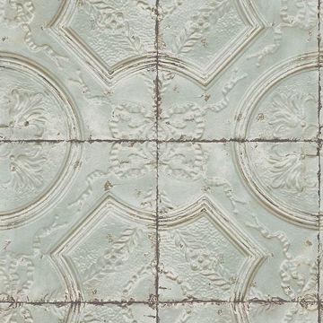 Picture of Susanna Teal Vintage Tin Tile Wallpaper