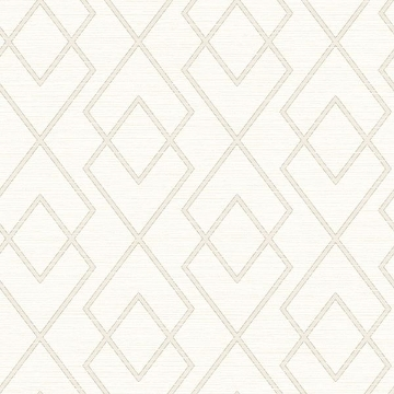 Picture of Blaze White Trellis Wallpaper