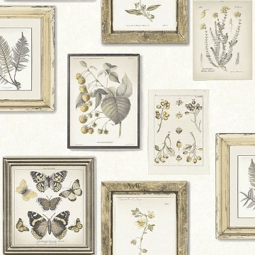Picture of Sibylla Light Yellow Gallery Wallpaper