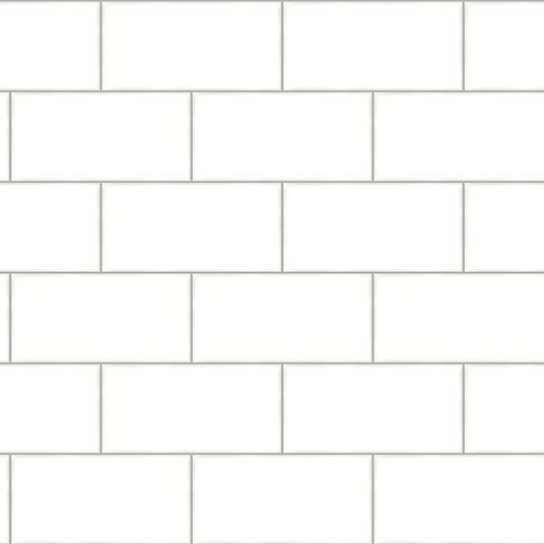 Picture of Freedom Off-White Subway Tile Wallpaper