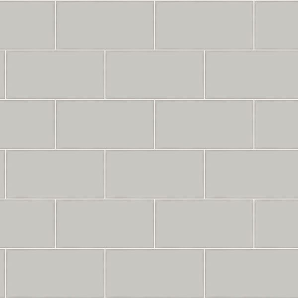 Picture of Freedom Grey Subway Tile Wallpaper